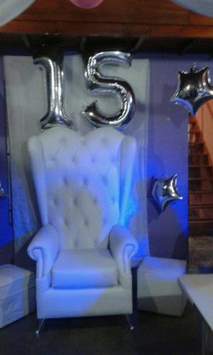 alquiler de sillon de princesa para cumples de 15