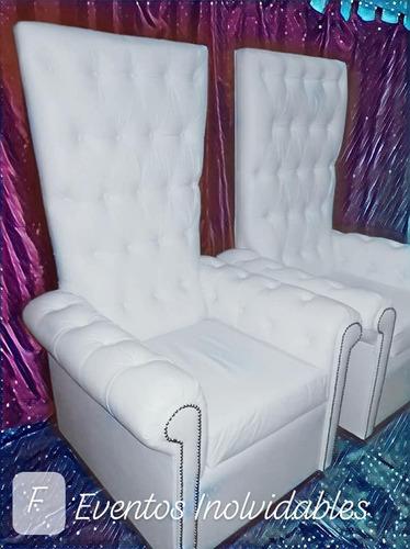 alquiler de sillones princesa-cumple-casamientos. nuevos!!
