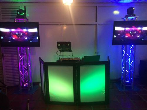 alquiler de sonido discplay truss humo miniteca luces dj tvs