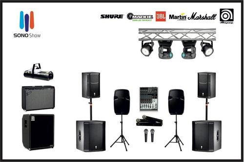 alquiler de sonido e iluminacion para fiestas y todo tipo de