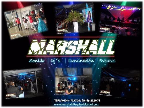 alquiler de sonido e iluminación, visuales marshall discplay