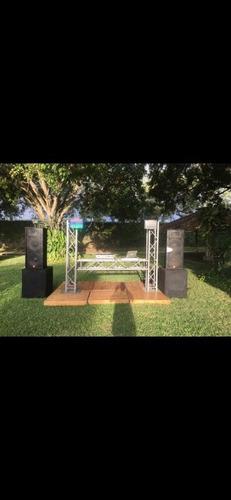 alquiler de sonido iluminacion video beam planta pantalla dj