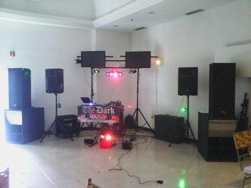 alquiler de sonido, iluminación,laser, led. maquina de humo