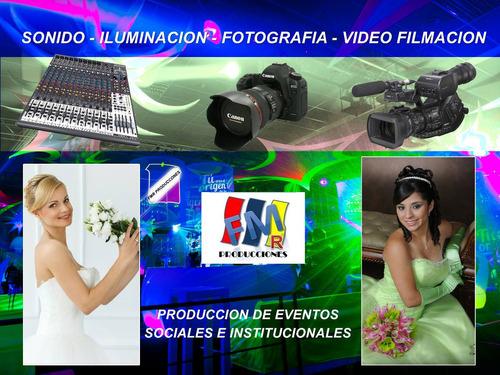 alquiler de: sonido, luces, fotografía, vídeo filmación,