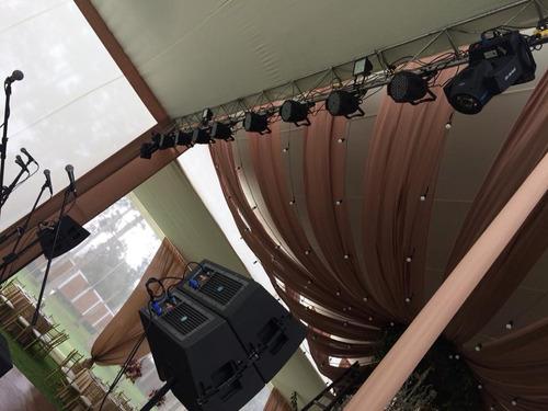 alquiler  de sonido luces profesional y grupos electrógenos