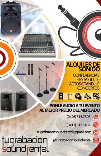 alquiler de sonido para eventos, conferencias, fiestas y mas