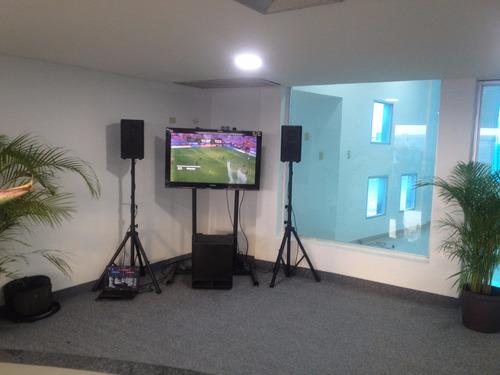 alquiler de sonido profesional y pantallas plasmas