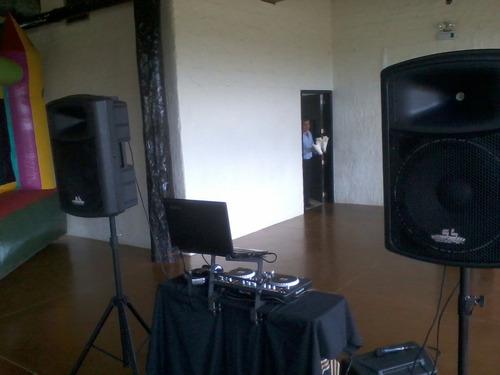 alquiler de sonido y fotografia para fiestas y eventos