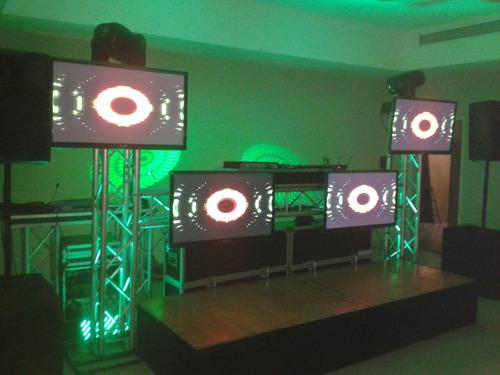 alquiler de sonido,discplay, miniteca,dj,truss,luces robot.