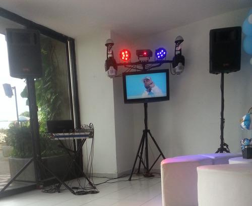 alquiler de sonido,miniteca, dj, iluminación, pantallas lcd