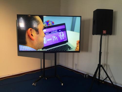 alquiler de televisores monitores led 65, 75 y 80 pulgadas