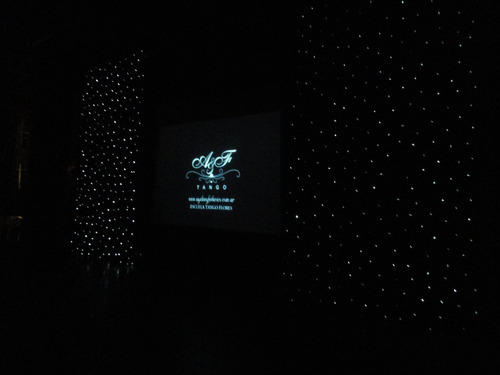 alquiler de telones led de fibra óptica - cielo estrellado