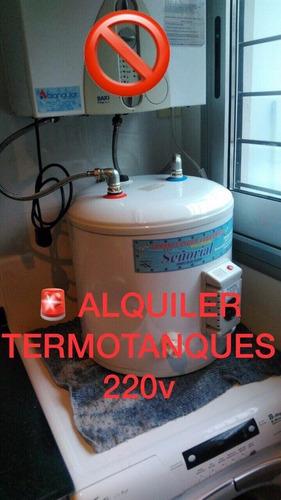 alquiler de termotanque electrico  caba y gran bs as