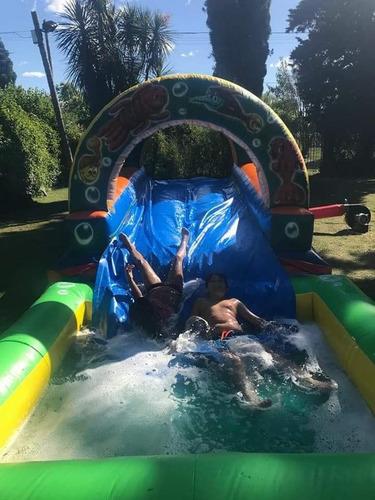 alquiler de tobogan inflable acuatico, cancha jabonosa y mas