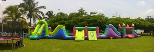 alquiler de tobogan piscina festejo cama elastica sonido