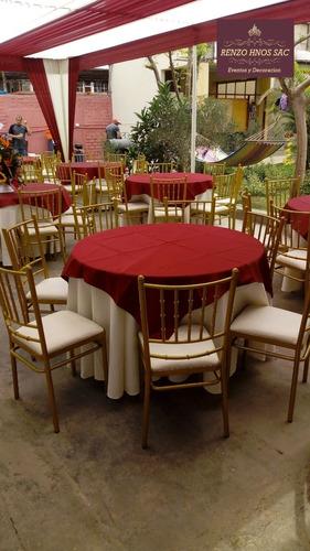 alquiler de toldos mesas sillas menaje eventos chorrillos
