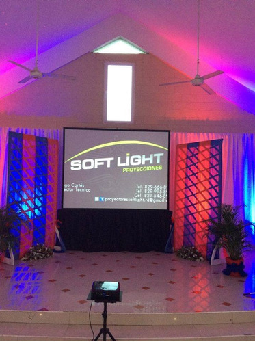 alquiler de tombolas, podium, luces y datashow  para eventos