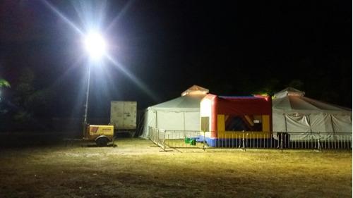 alquiler de torres de iluminación jirafas o diabla