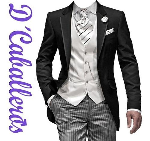 alquiler de trajes combinación negro y gris