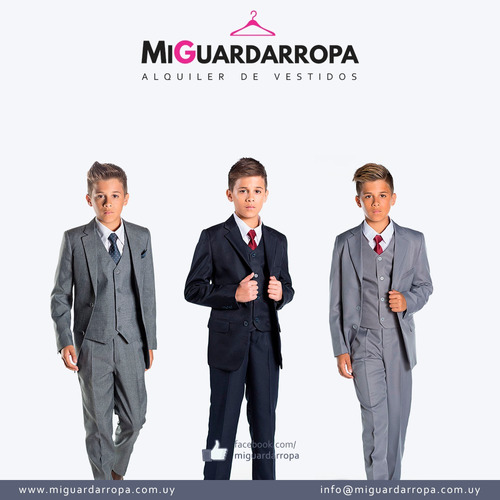 alquiler de trajes modernos para hombres y niños en centro