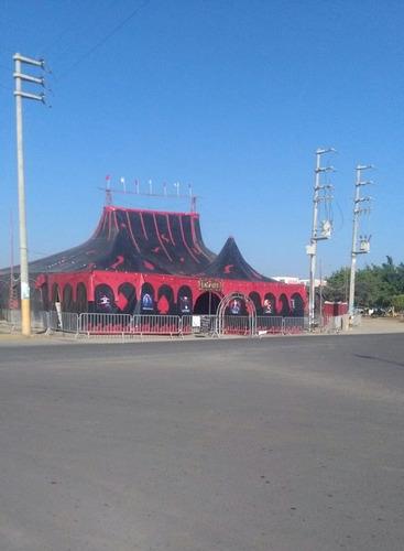 alquiler de tribunas, escenarios, tenso estructuras, circos
