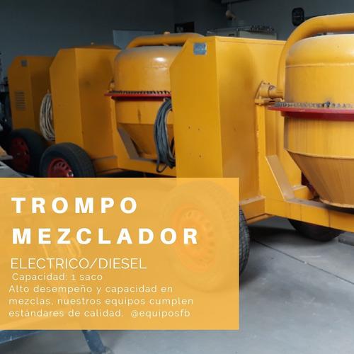 alquiler de trompo mezclador electrico diesel equipos fb