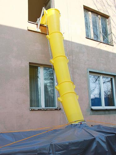alquiler de tubos de descarga de escombro