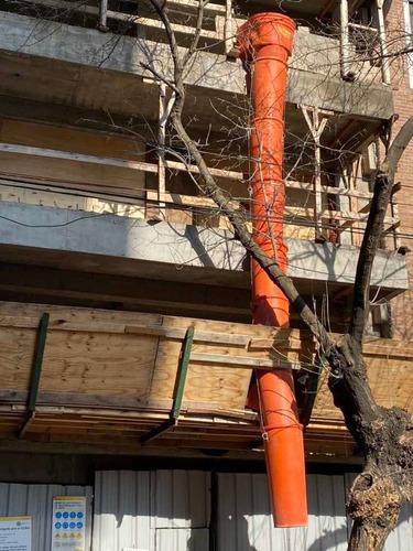 alquiler de tubos para descarga de escombros