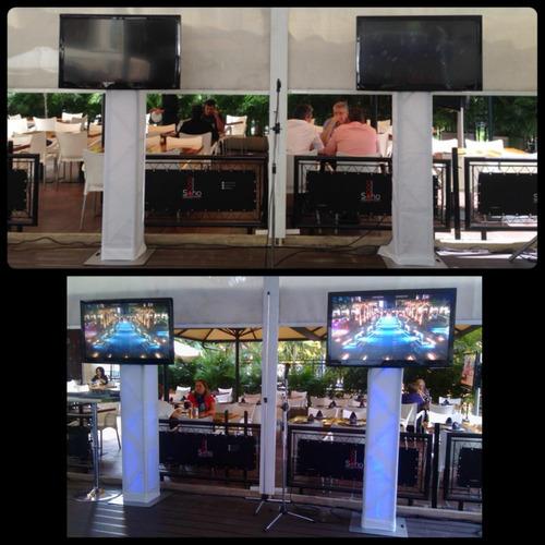 alquiler de tv pantallas truss par led sonido e iluminacion