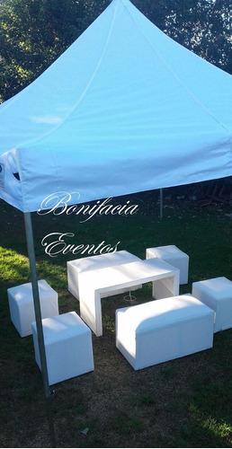 alquiler de vajilla - manteleria -mesas-silla-living-gazebos