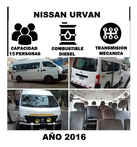 alquiler de vans hyundai h1 minivans sin chofer - lima