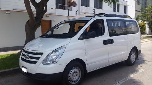 alquiler de vans hyundai h1 - mod 2016 dual gnv - callao