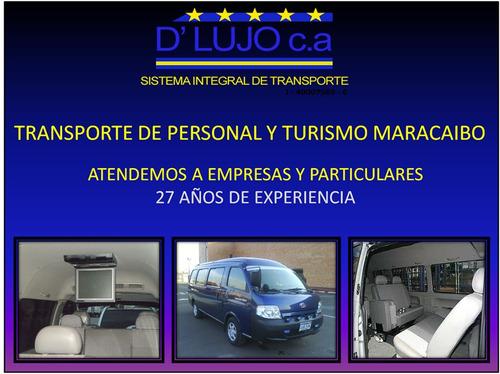 alquiler de vans maracaibo transporte de personal ejecutivo