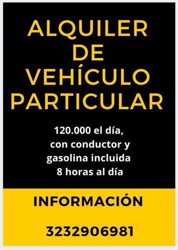 alquiler de vehículo particular con conductor