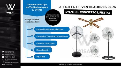 alquiler de ventiladores para eventos ,conciertos, fiestas,