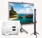alquiler de video beam proyector hd,pantalla gigante,karaoke