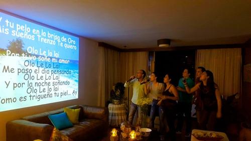 alquiler de video beam, sonido, asambleas, karaoke