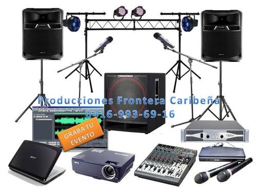 alquiler de video beam y audio para tu evento