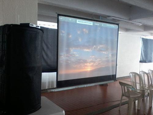 alquiler de video beam y sonido para asambleas