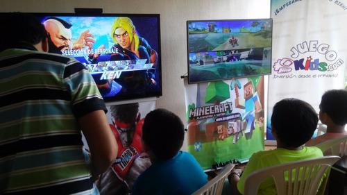alquiler de videojuegos, juegos para cumpleaños, ps4, ps3