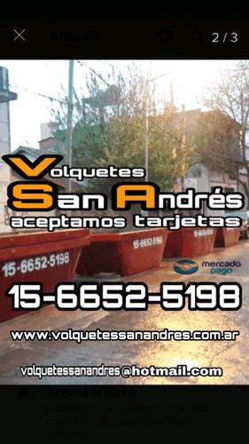 alquiler de volquetes san andrés / san martín / zona norte