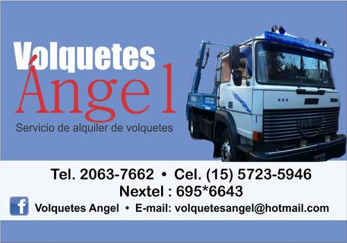 alquiler de volquetes zona oeste volquetes angel