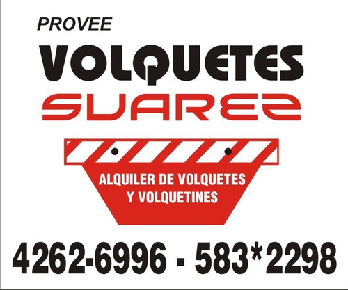 alquiler de volquetes zona sur 4262-6996 mercado pago