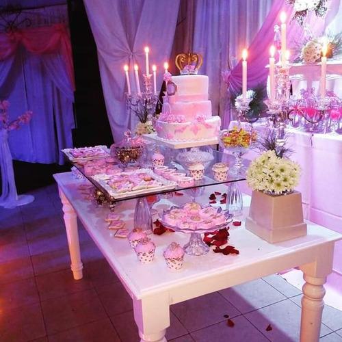 alquiler decoracion ,vajillas, candy bar.