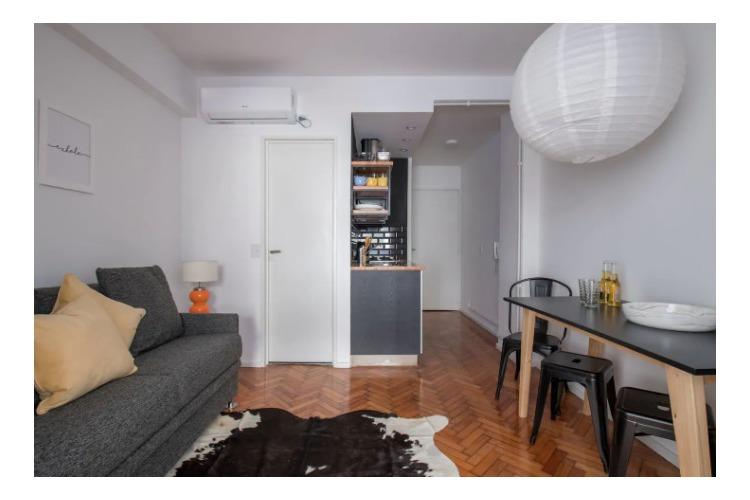 alquiler departamento amoblado 2 ambientes - san nicolas