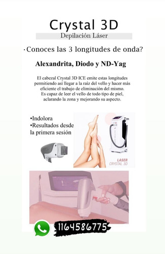 alquiler depilacion definitiva láser trio ice body health