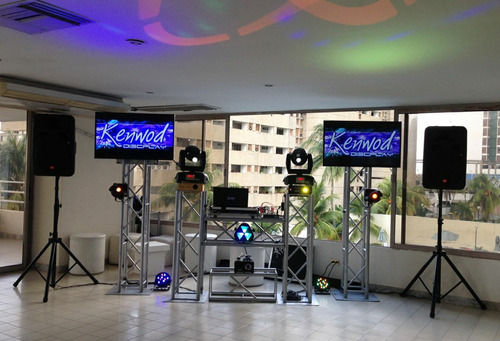 alquiler discplay miniteca sonido karaoke pantalla truss par