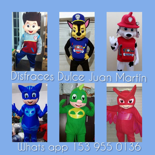 alquiler disfraces oso pj mask mickey minnie peppa sapo pepe