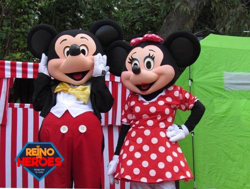 alquiler disfraz mickey mouse minnie original,eventos show