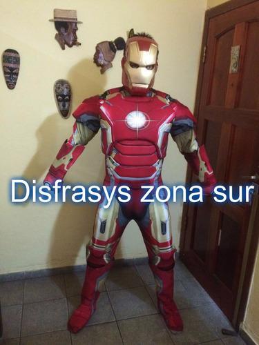 alquiler disfraz super heroes iroman,capitan america,hulk,